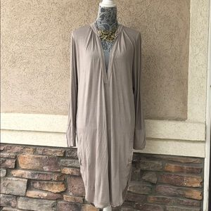 Free People Beach Beige Tunic Pullover